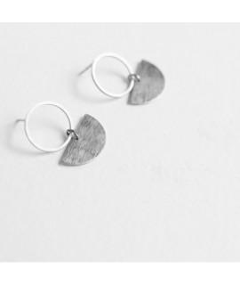 zilveren cirkel oorbellen by Fleurfatale