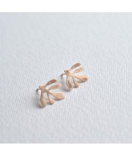 SIREN rosé goudvergulde oorbellen by Fleurfatale