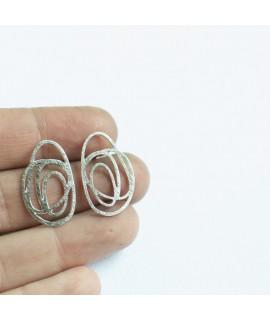 Zilveren druppel oorbellen by Fleurfatale