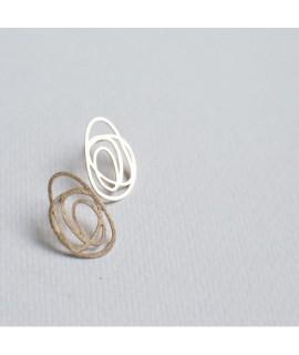 Rosé gouden druppel oorbellen by Fleurfatale