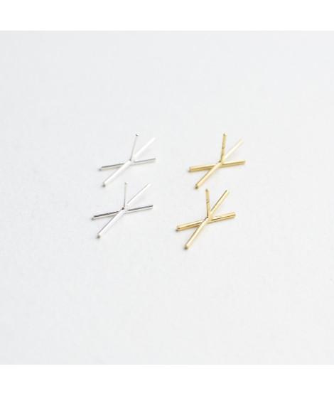 staafjes in goudverguld zilver handgemaakt by Fleurfatale in gent