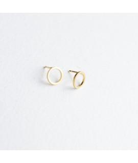 basic rondjes oorstekers in goud verguld by Fleurfatale