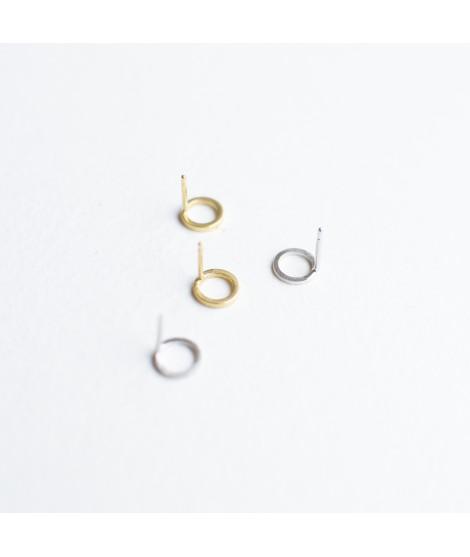 mini rondjes oorstekers goudverguld by Fleurfatale uit Gent