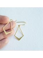 Goudvergulde zilveren geometrische oorbellen by Fleurfatale in Gent