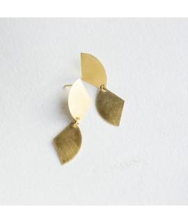 TWIN lange goud vergulde halve cirkels handmade by Fleurfatale in Gent