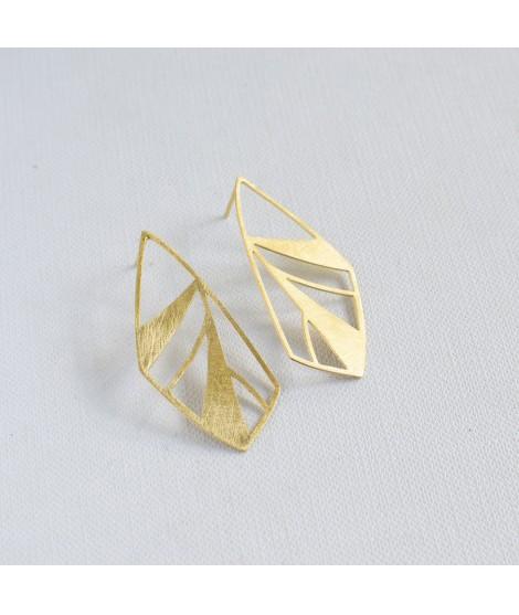 FRAGILE/NOTFRAGILE  goud  vergulde  vlinder oorbellen by Fleurfatale uit gent