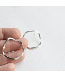 zilveren  grote cirkel oorbellen oorstekers by Fleurfatale uit Gent