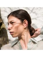 Goudvergulde en zilveren  grote cirkel oorbellen oorstekers by Fleurfatale uit Gent