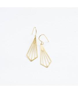 TALKING TRACES goudvergulde oorbellen geometrisch by Fleurfatale handmade in  Gent