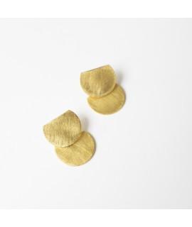 TWIN goud vergulde halve cirkels handmade by Fleurfatale in Gent