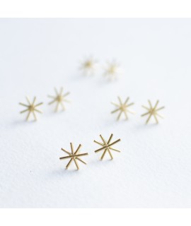sterretjes in goudverguld zilver handgemaakt by Fleurfatale in gent