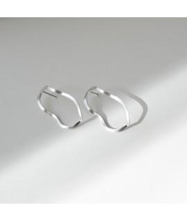 Zilveren of goudvergulde oorbellen / oorknoppen by Fleurfatale uit Gent