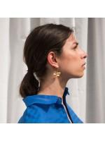 Zilveren of goudvergulde oorbellen / oorknoppen halve maan golf by Fleurfatale uit Gent