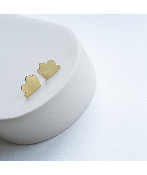 zilveren of goudvergulde wolk oorbellen fleurfatale uit gent