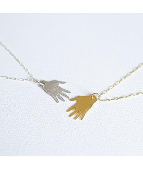 goudvergulde of  zilveren frida kahlo hand ketting  by Fleurfatale in Gent