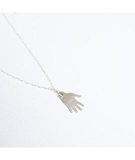 goudvergulde of  zilveren frida kahlo hand ketting  halssnoer by Fleurfatale in Gent